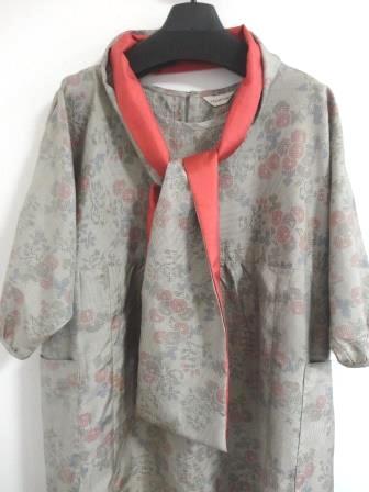 大島紬花柄織ドルマンOPスカーフ
