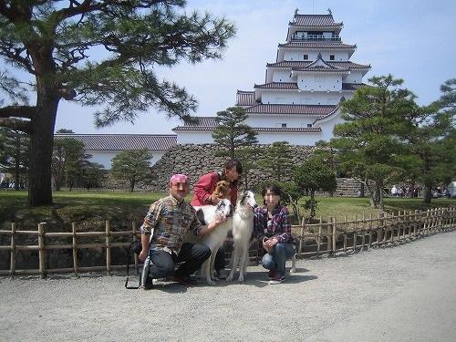 お城で記念撮影