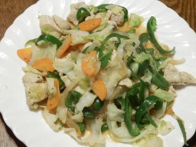 鶏野菜炒め