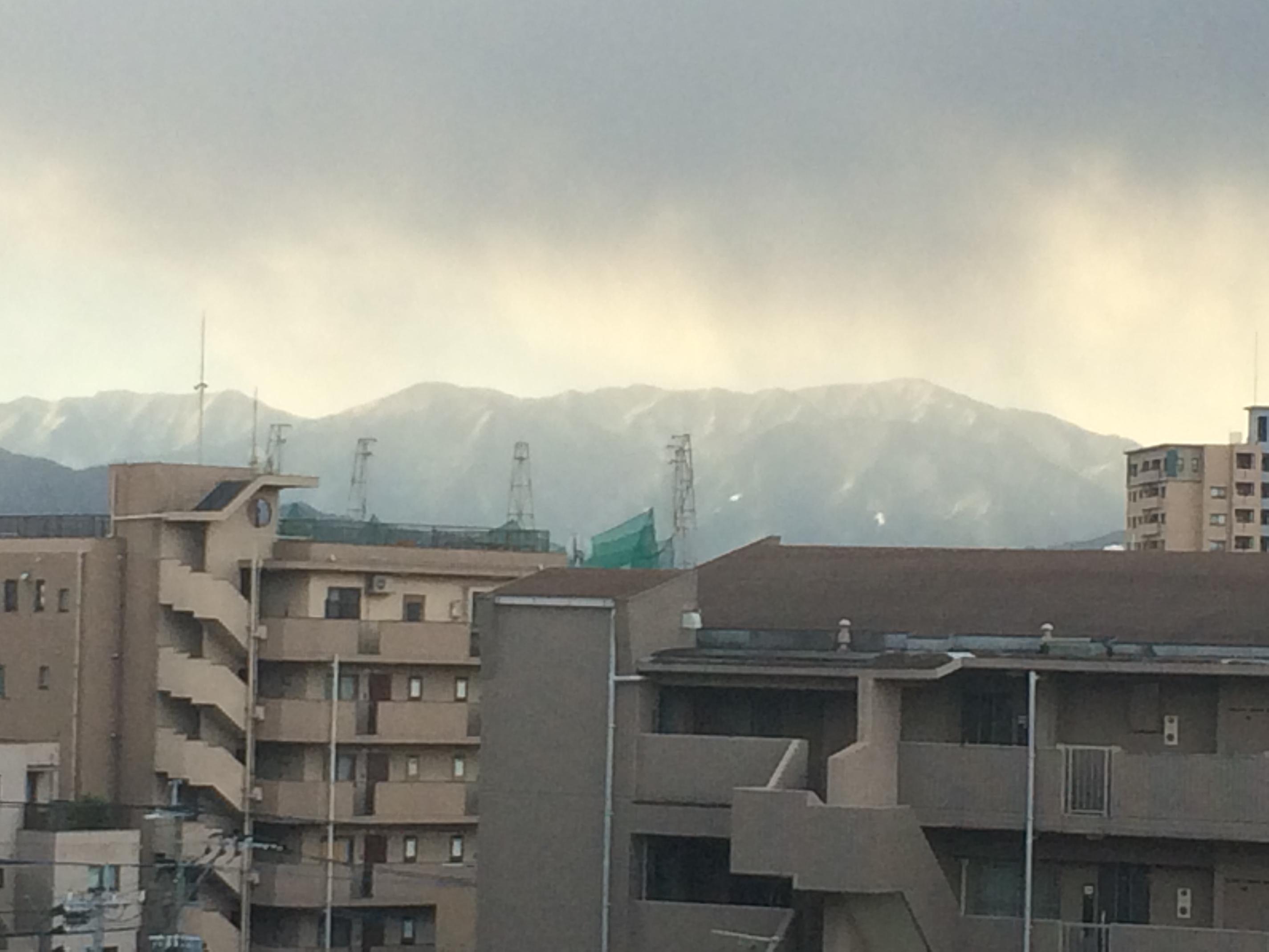 平成26年初冠雪