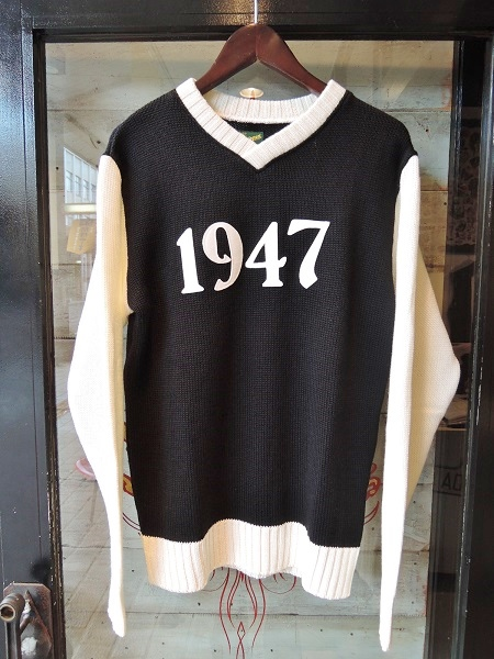 Delinquent Bros 1947 V-NECK 2TONE KNIT (1)