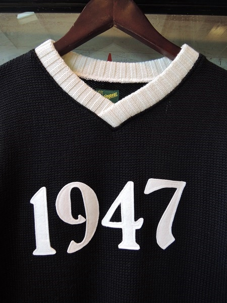 Delinquent Bros 1947 V-NECK 2TONE KNIT (2)