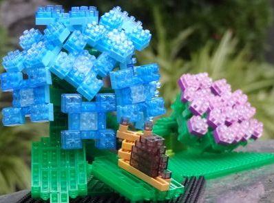 紫陽花と蝸牛2