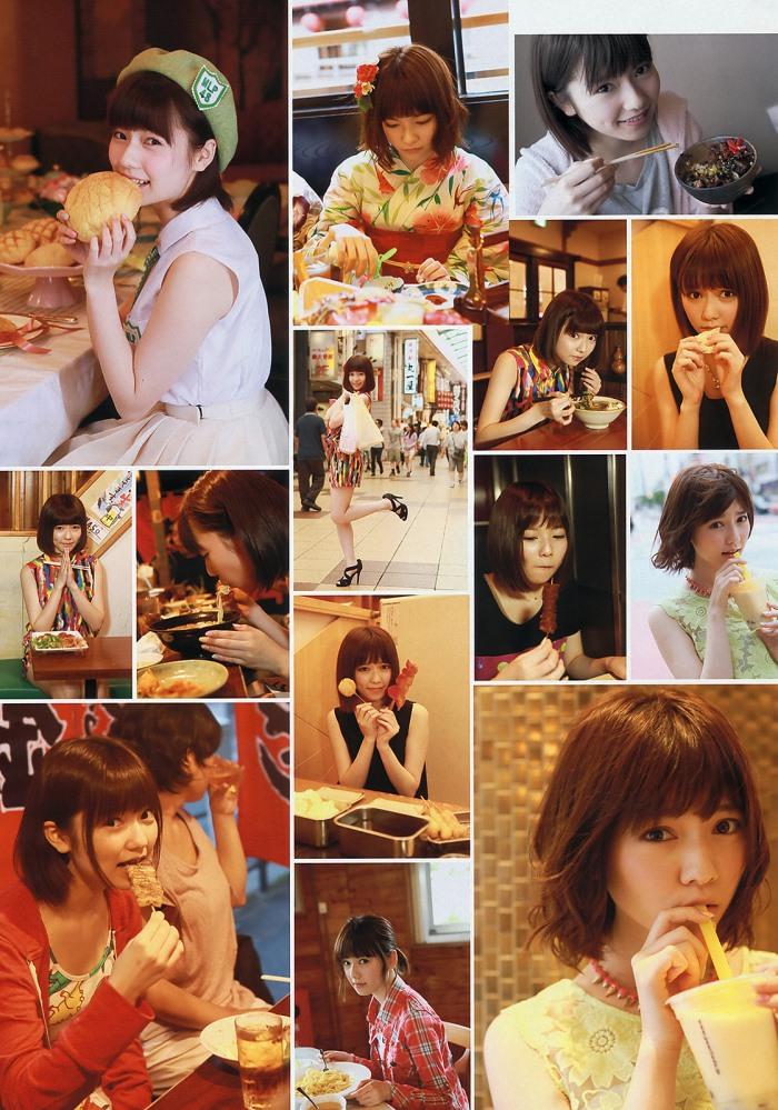 島崎遥香 「ぱるる、食べる。」 グラビア画像