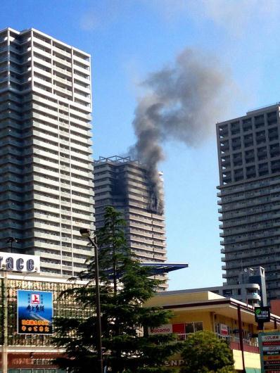 南千住4丁目の32階建て高層都営住宅で火災