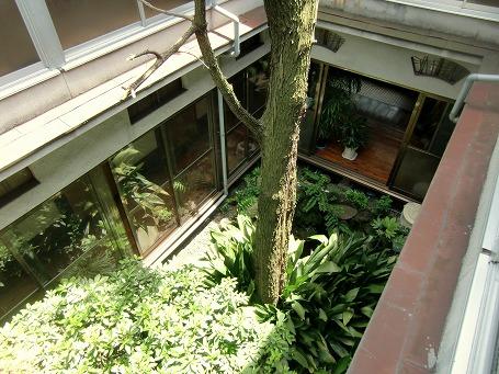 ホテル寿楽の中庭