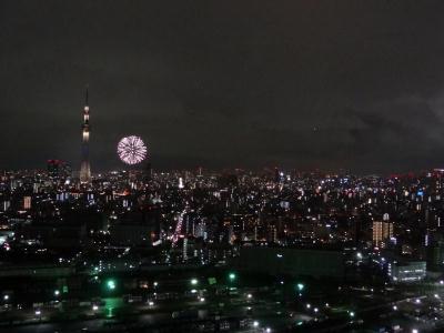 隅田川花火大会途中で中止!2013 南千住画像