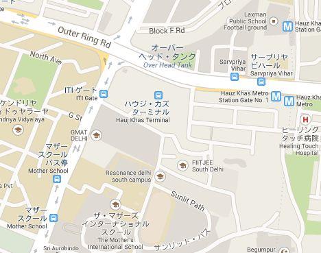 マザーズインターナショナルスクール地図
