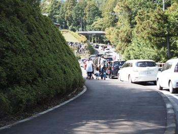 PA131483駐車場渋滞