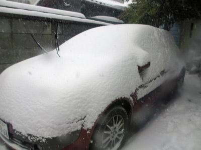 午後の雪模様
