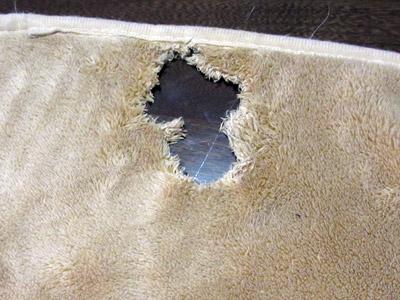 穴開き毛布