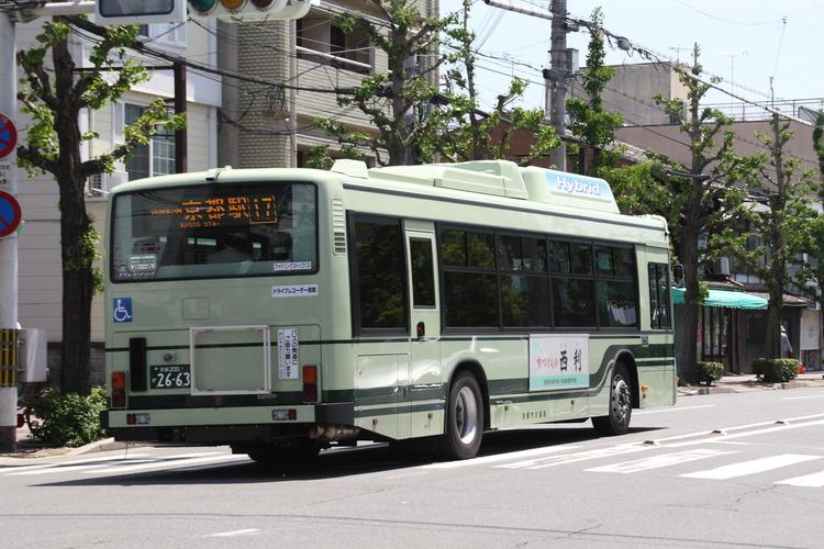京都市バス2663リヤ