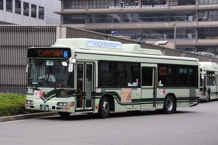京都市バス 京都200か2530 日野LJG-HU8JMGP