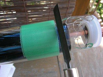 太陽熱温水器 真空管パイプの再生と構造