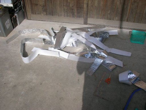 塩ビパイプを使った手作り太陽熱温水器の再設置