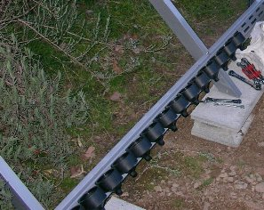 陽熱温水器の真空管パイプの差し込み