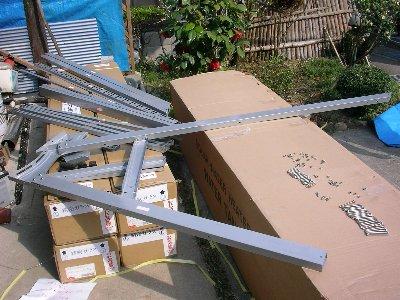 真空管パイプ太陽熱温水器を組み立てる
