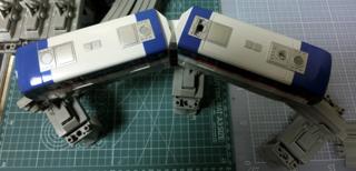 「東京モノレール2000形セット」2000形車両 屋根上