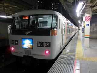 東京駅停車中の185系「湘南ライナー」
