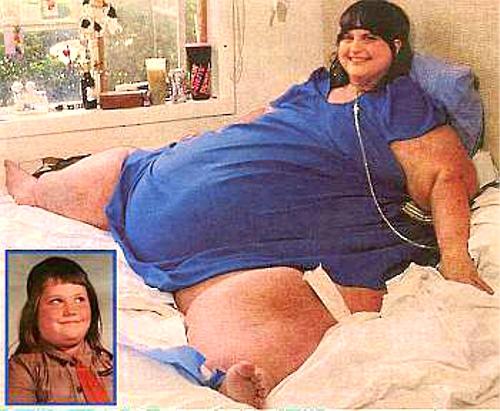 人類史上最も体重が重い人物キャロル・イエガー