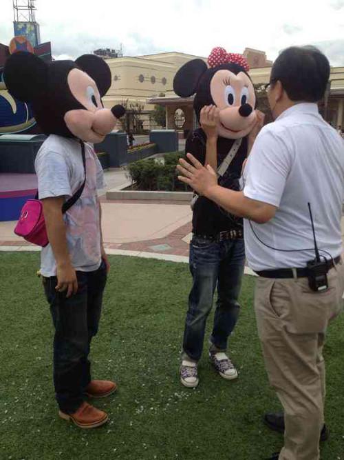 USJにミッキーマウスの偽物が現れたようです