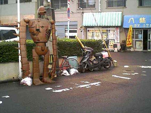 ゴミ捨て場に捨ててあったジブリのキャラクター