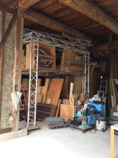 倉庫の中トラス