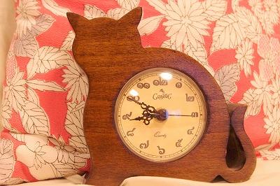ねこ置時計