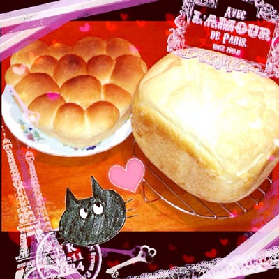 朝のパンなど