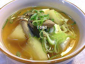 大根と豚肉の具だくさんスープ