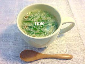 生姜入り卵スープ
