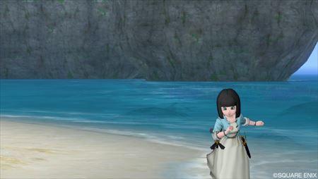 浜辺を走る_R