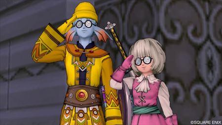 ぐるぐるメガネと敬礼_R