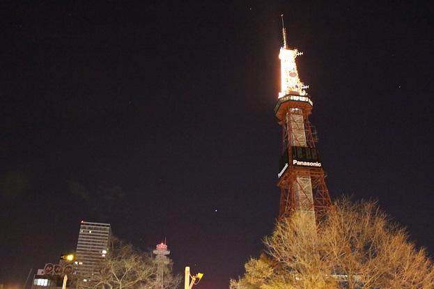 2014北海道旅行:テレビ塔 夜