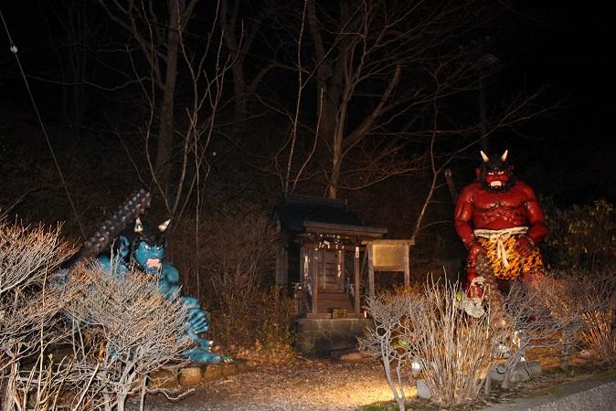 2014北海道旅行:登別温泉 鬼祠  念仏鬼像