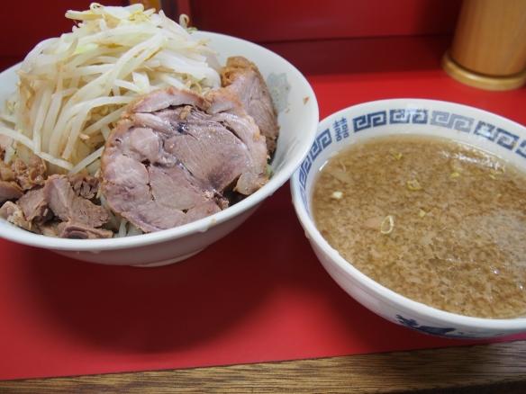 130601_上野毛_小ラーメン_つけ麺_ヤサイニンニク