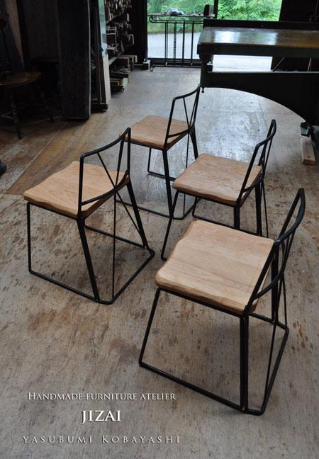 鉄脚組立式椅子
