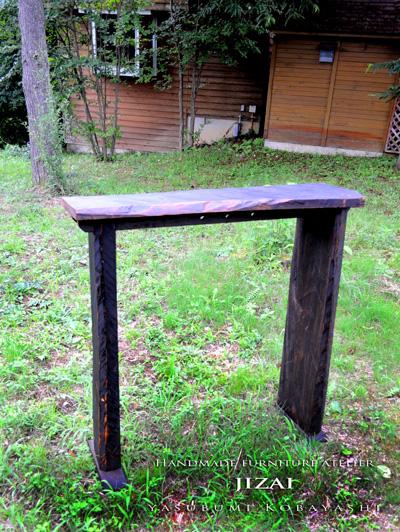 古材カウンターテーブル014