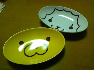 ミスドカレー皿 ポン・デ・ライオンとフレンチウーラー