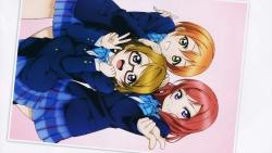 169_300746 hoshizora_rin koizumi_hanayo love_live! megane murota_yuuhei nishikino_maki seifuku