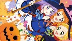 169_300220 aikatsu! halloween heels hikami_sumire oozora_akari sakai_kasumi seifuku shinjou_hinaki witch