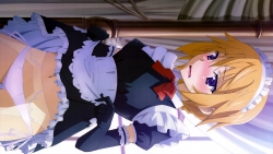 169_302095 charlotte_dunois infinite_stratos maid pantsu pantyhose skirt_lift string_panties