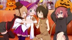 169_302181 animal_ears ass cosplay dress halloween nekomimi tagme tail thighhighs witch yuru_yuri