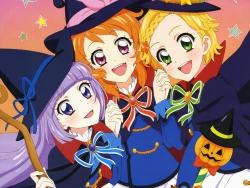 43_300220 aikatsu! halloween heels hikami_sumire oozora_akari sakai_kasumi seifuku shinjou_hinaki witch