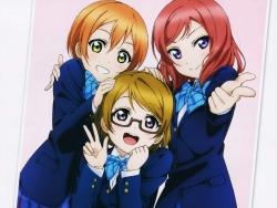 43_300746 hoshizora_rin koizumi_hanayo love_live! megane murota_yuuhei nishikino_maki seifuku