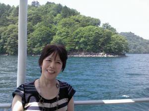 中禅寺湖船上
