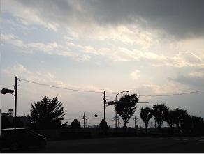 そして雨雲が・・・。