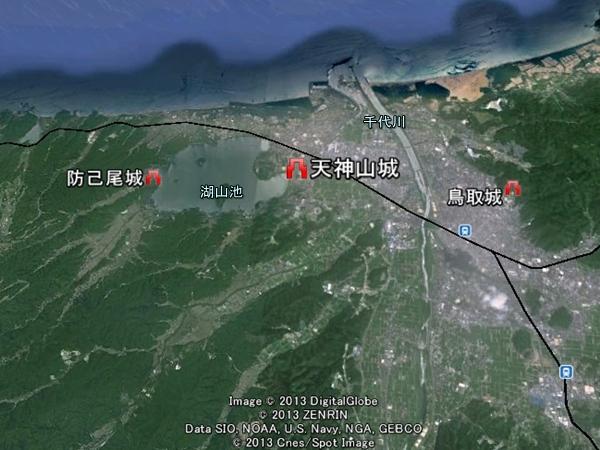 天神山城_地図