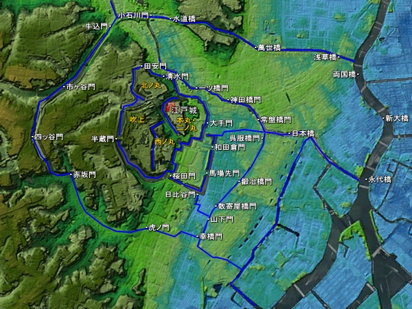 江戸城地形