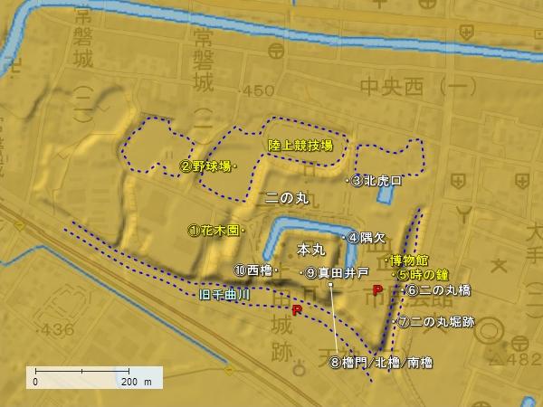上田城地形